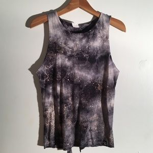 Affliction F & F galaxy tank with tie back size XS